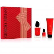 Sea Passion Set by Giorgio Armani for Women (Eau de Parfum perfume 100ml + 7ml sample + 75ml scented body lotion)