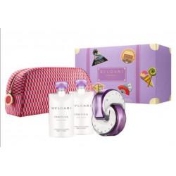 Bvlgari Omnia Amethyst Eau de Toilette Set 65 ml + Shower Gel _ Body Lotion + Bag